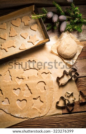 Sweet gingerbread cookies for Christmas