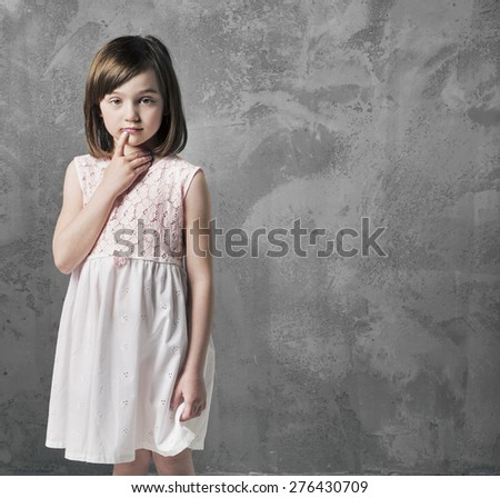 Sweet girl - stock photo