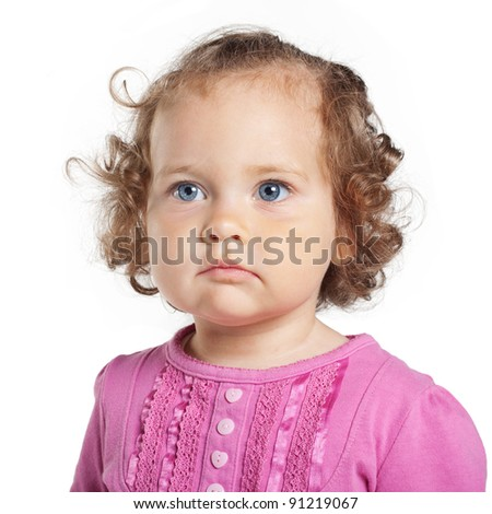 sweet girl with curls - stock photo