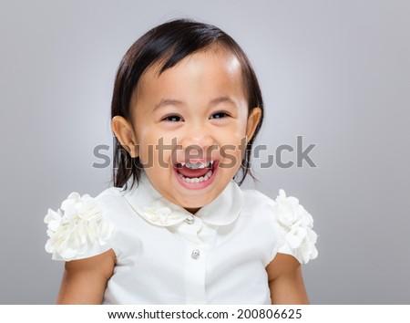 Sweet happy girl - stock photo