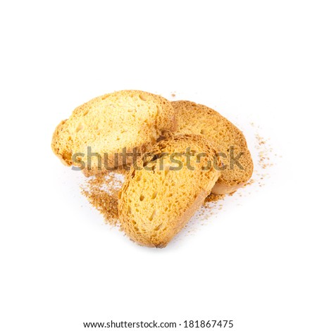 Sweet  hard chuck isolated over white background - stock photo