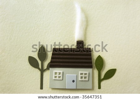 sweet home, a handcraft made by paper. - stock photo