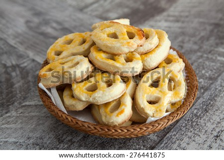 Sweet homemade pretzels - stock photo