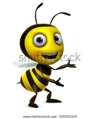 sweet honey bee - stock photo