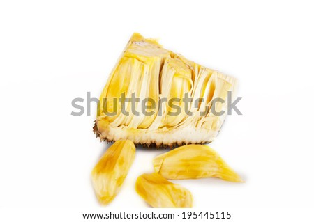 sweet jack-fruit Isolated on White Background.