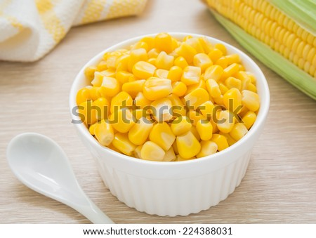 Sweet kernel corn in bowl  - stock photo