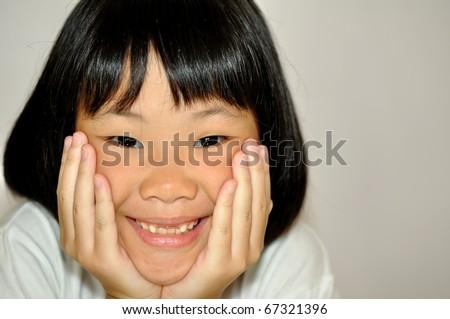 sweet little asian girl - stock photo