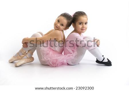 Sweet little ballerinas - stock photo