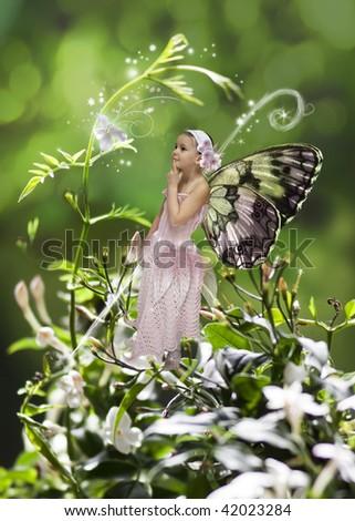 Sweet little fairy - stock photo