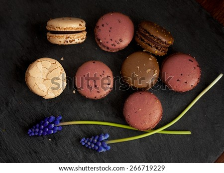 Sweet macaroons - stock photo