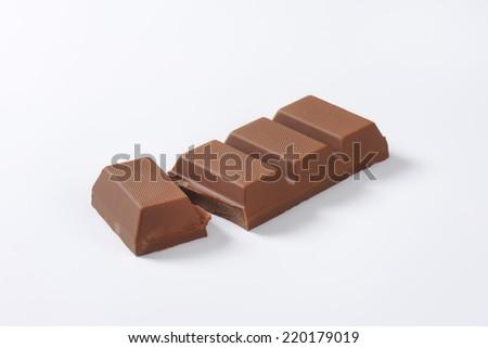 sweet milk chocolate bar - stock photo
