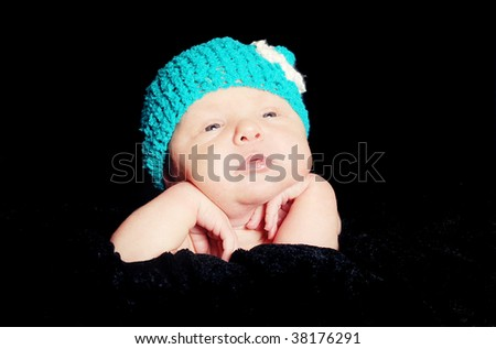 sweet newborn baby - stock photo