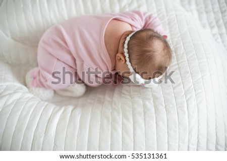 Sweet newborn baby sleeping