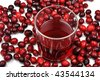 sweet organic cranberries and juice in a glass - stock photo