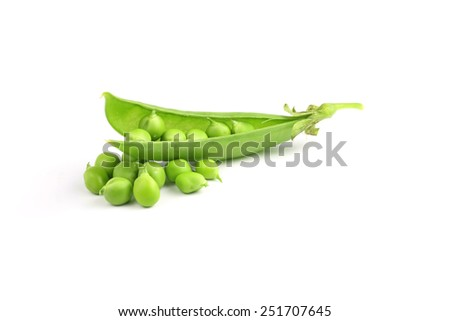 Sweet pea in closeup - stock photo