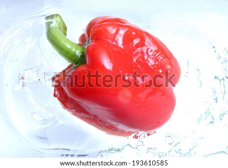 Sweet peppers in water