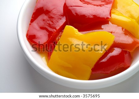 Sweet peppers on a plate (3)