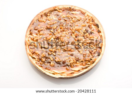 Sweet pie with different nuts. - stock photo