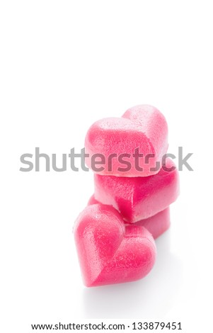 sweet pink red marzipan hearts