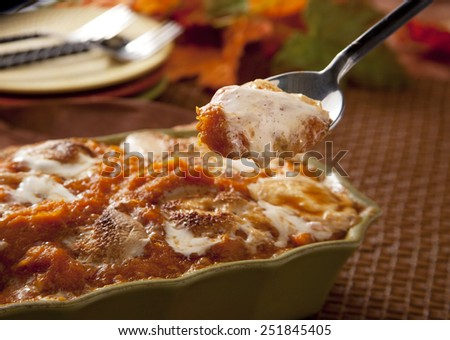 Sweet potato casserole - stock photo