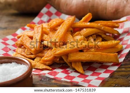 Sweet Potato Fries - stock photo