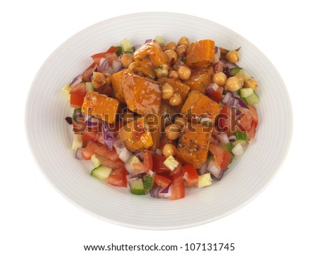 Sweet Potato with Chickpea Salad