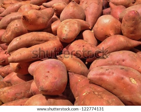 Sweet Potatoes Background