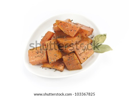 sweet potatoes dish - stock photo