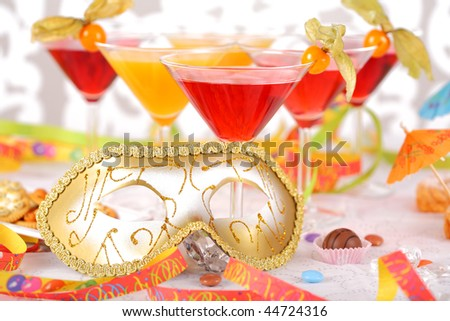 Sweet pralines and coctails birthday party or carnival