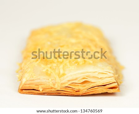 sweet puff pastry - stock photo