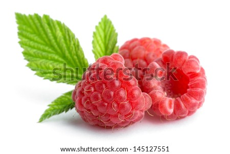 Sweet raspberry on white background