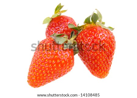 sweet red fresh strawberry on white