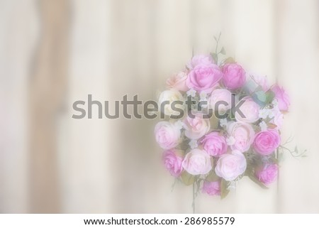 Sweet roses in blur background