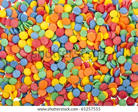 sweet sprinkles background - stock photo