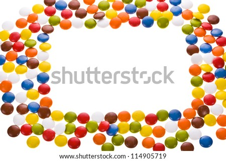 sweet sugar spreading pastry scattered , isolated on white background - stock photo