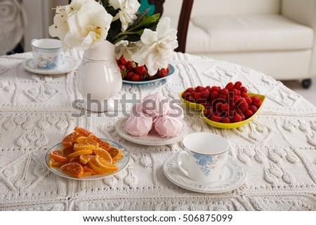 Sweet table with berries