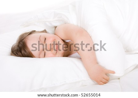 sweet toddler little girl sleeping