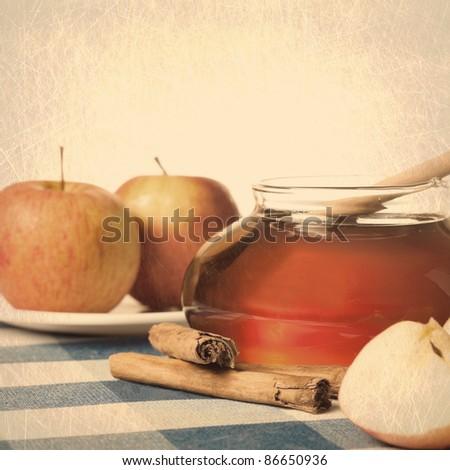 sweet vintage ingredients - stock photo
