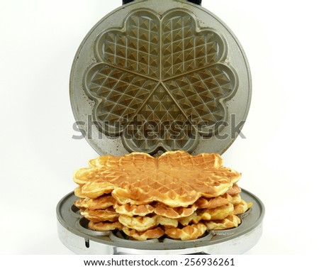 sweet waffles - stock photo