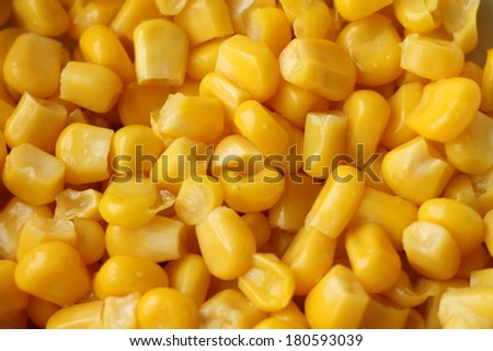 Sweet whole kernel corn background  - stock photo