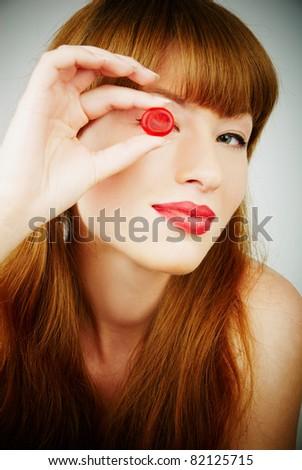 sweet woman - stock photo