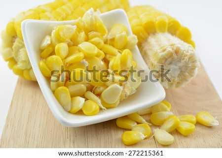 Sweet yellow corn - stock photo