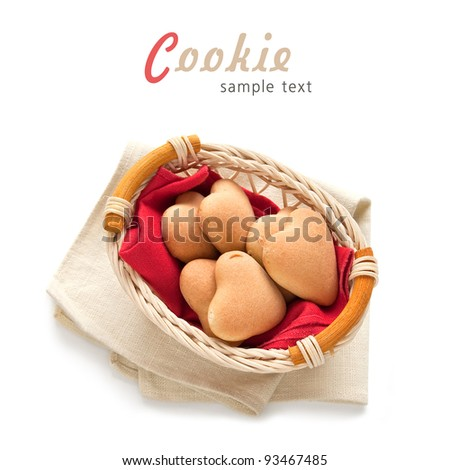 Sweetheart Heart Shaped Cookies for Valentine's Day Gifts or Anytime - stock photo