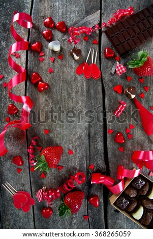 sweets and hearts - stock photo