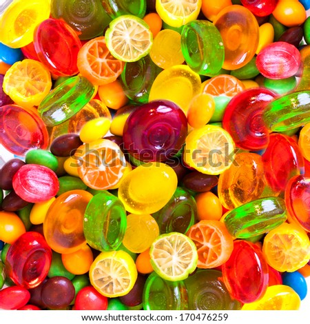 sweets background - stock photo