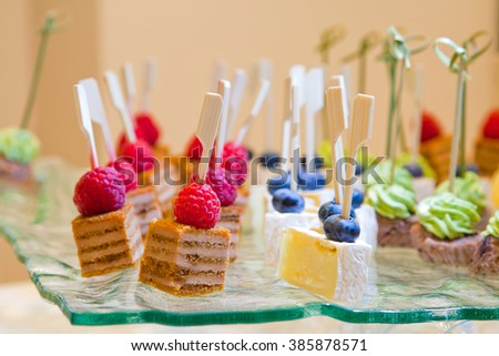 Sweets catering - stock photo