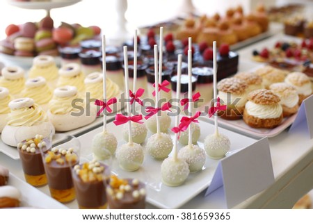 Sweets close up - stock photo