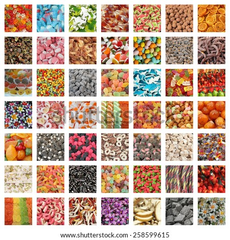 sweets collage - stock photo