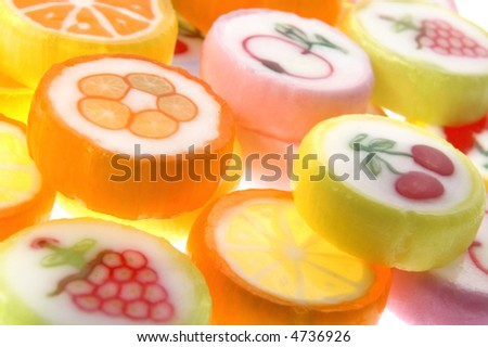 sweets isolated on the white background. candies - stock photo