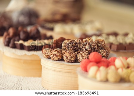 sweets on the table - stock photo